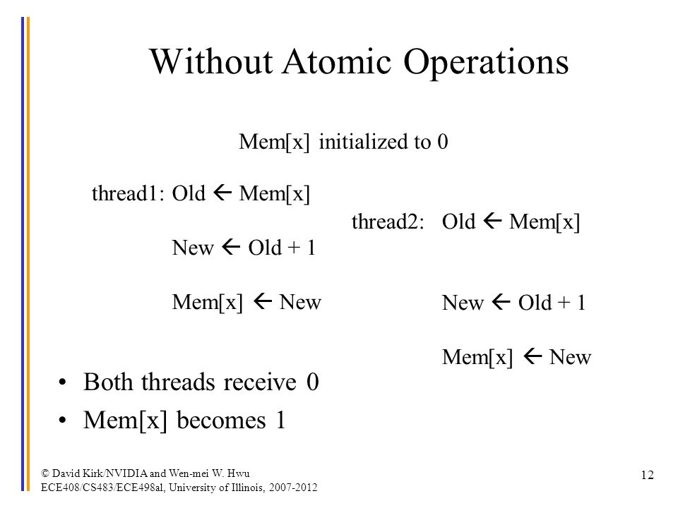 Without Atomic Operations