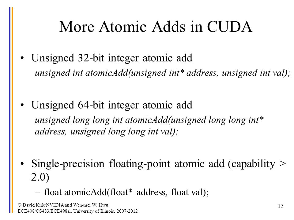 More Atomic Adds in CUDA