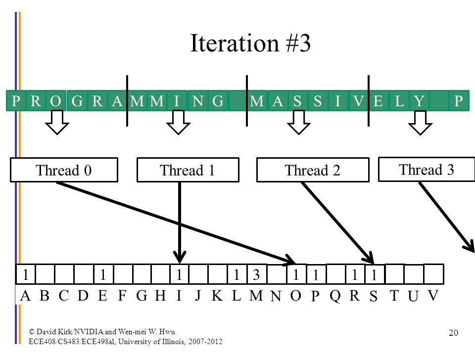 Iteration #3 P R O G R A M M I N G M A S S I V E L Y P Thread 0
