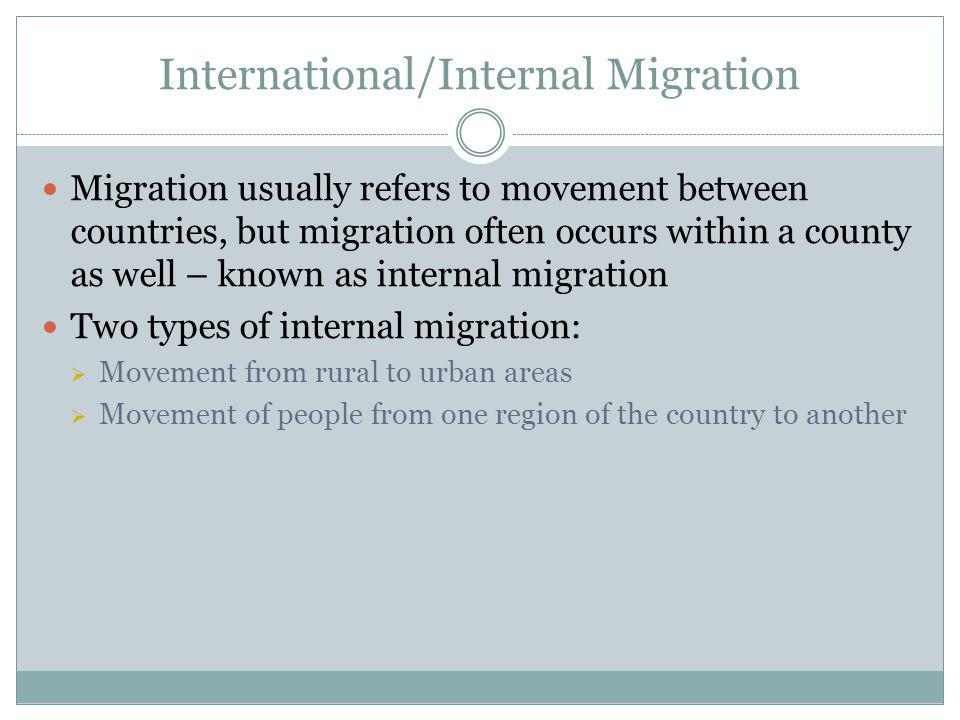 International/Internal Migration