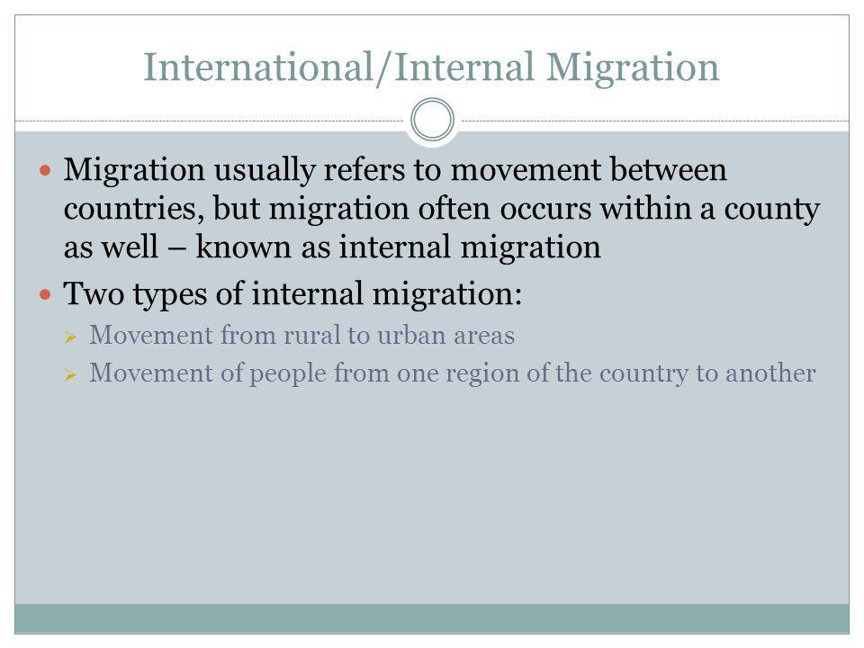 International/Internal Migration