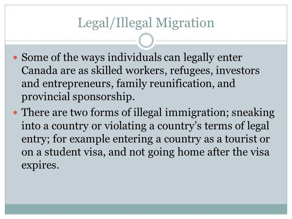 Legal/Illegal Migration
