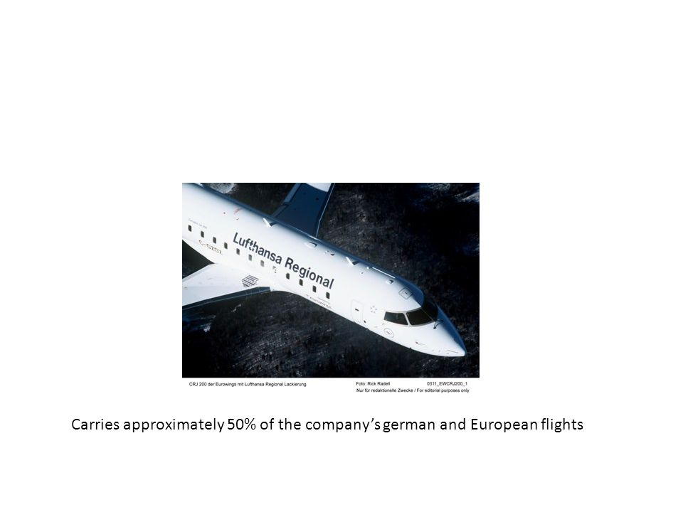 Carries approximately 50% of the company's german and European flights