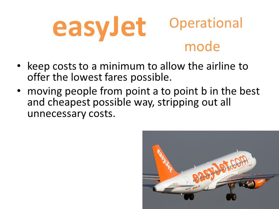 Operational mode easyJet
