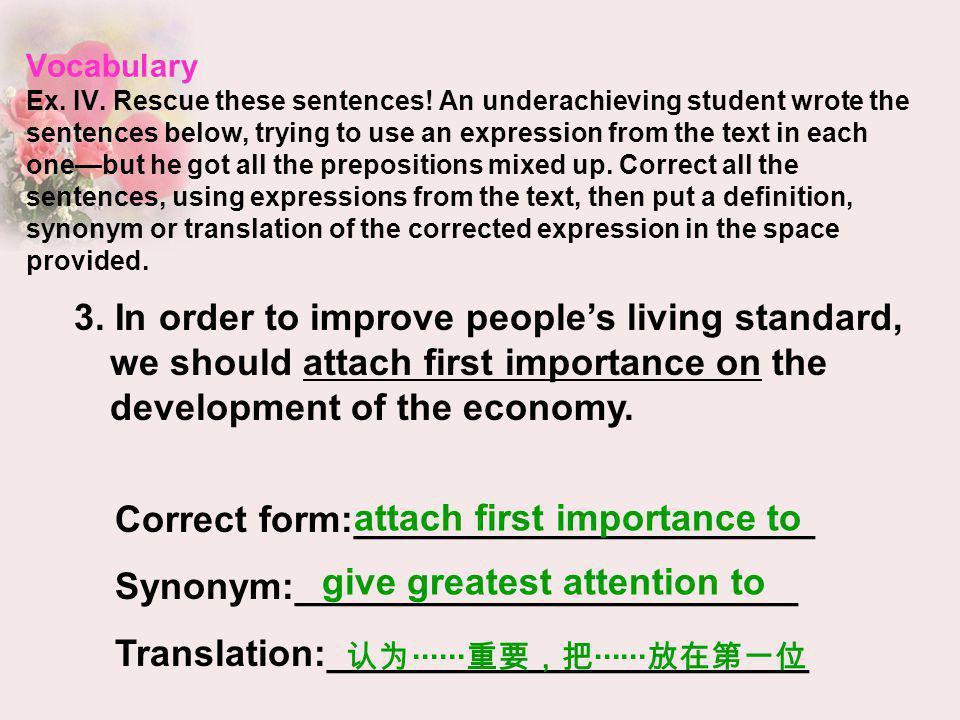 Correct form:______________________ Synonym:________________________