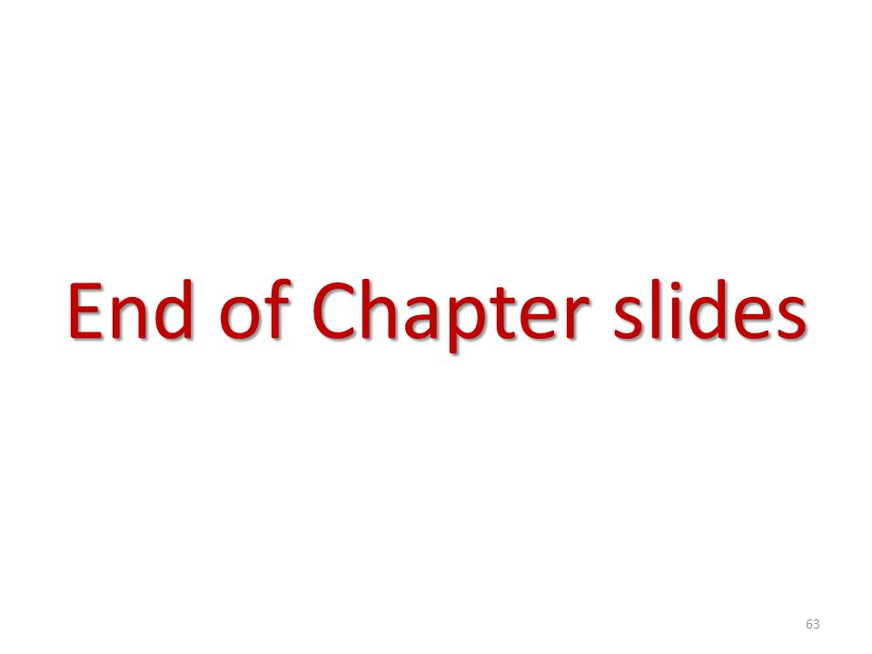End of Chapter slides