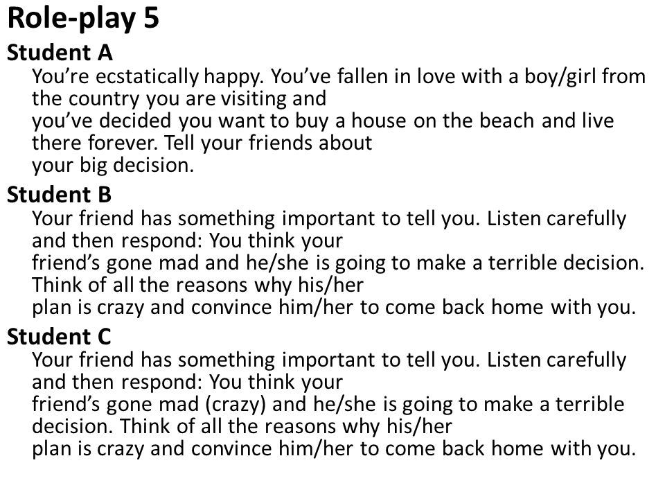 Role-play 5