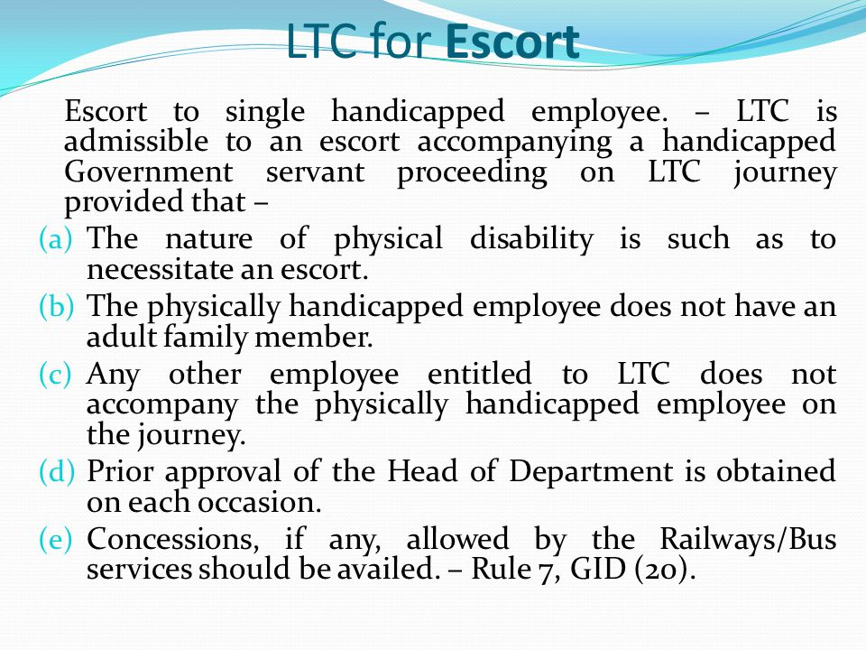 LTC for Escort