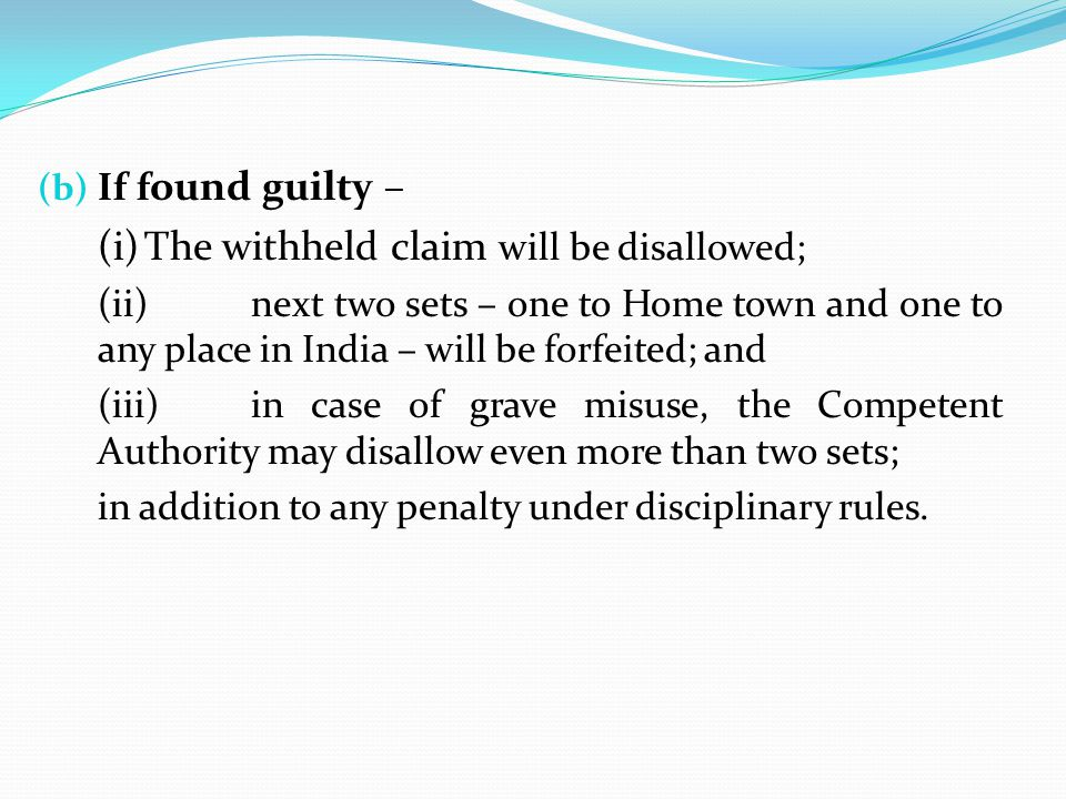 (i) The withheld claim will be disallowed;
