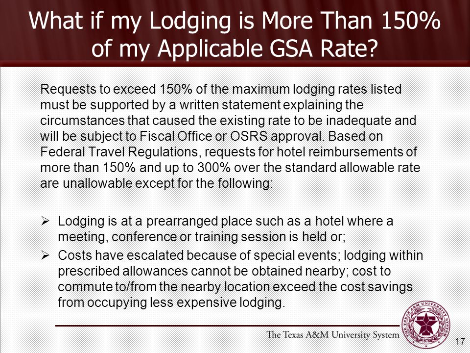 What if my Lodging is More Than 150% of my Applicable GSA Rate