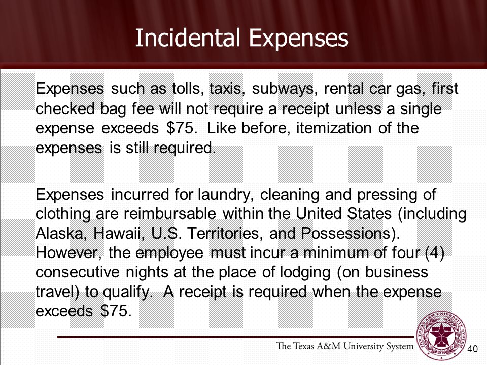 Incidental Expenses