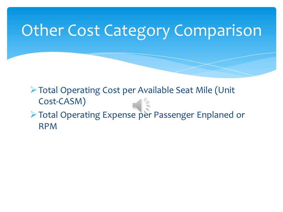 Other Cost Category Comparison