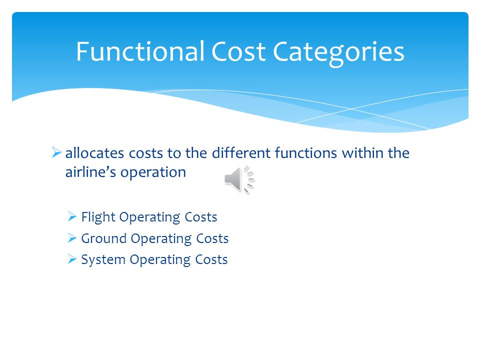 Functional Cost Categories