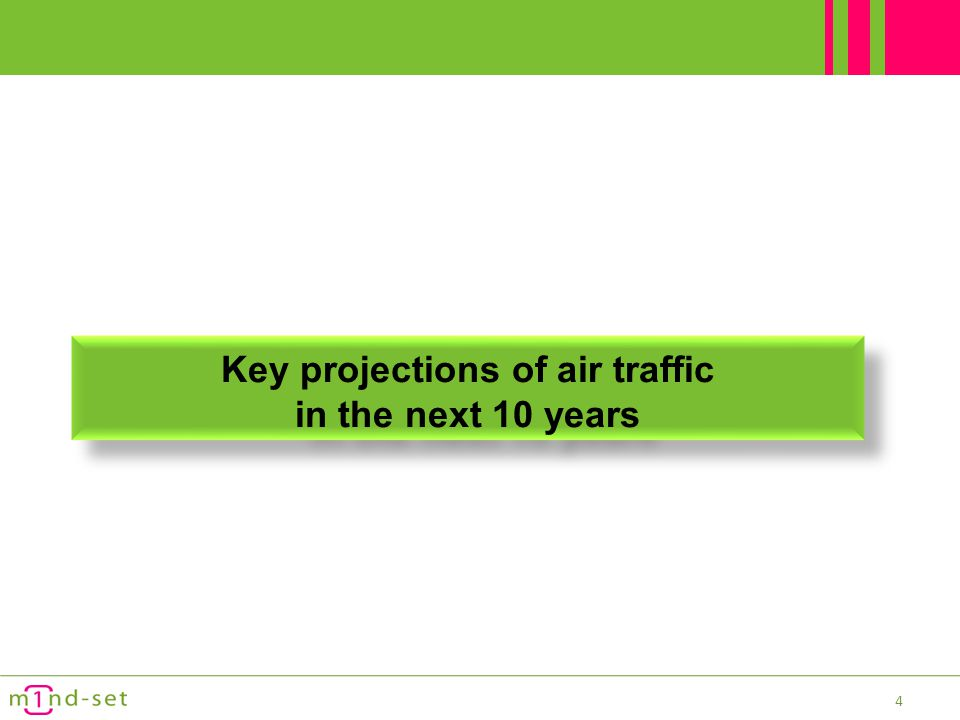 Key projections of air traffic