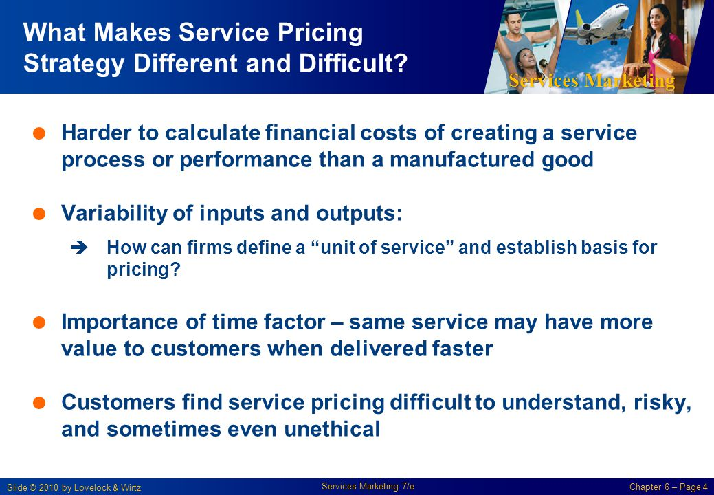 What Makes Service Pricing Strategy Different and Difficult