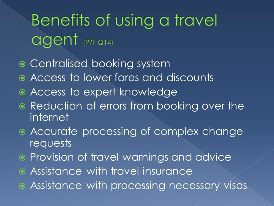 Traveller benefits