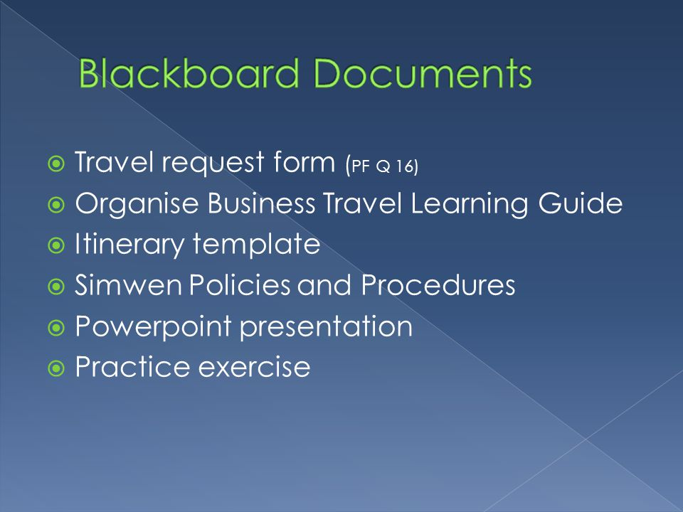 Organise business travel ppt video online download for Company travel policy template
