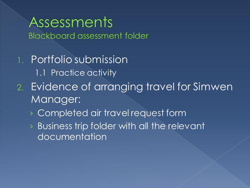 Assessments Blackboard assessment folder