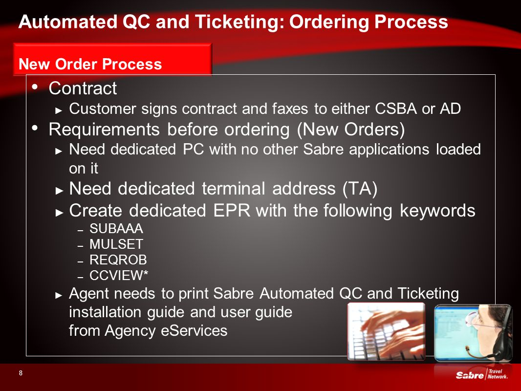 Automated QC and Ticketing: Ordering Process