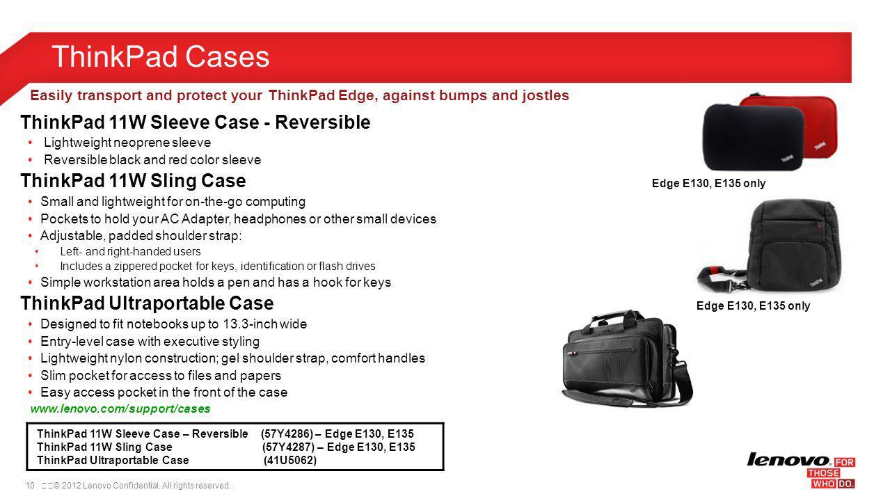 ThinkPad Cases ThinkPad 11W Sleeve Case - Reversible