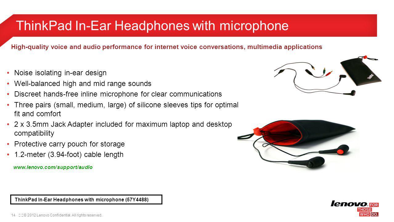 ThinkPad In-Ear Headphones with microphone