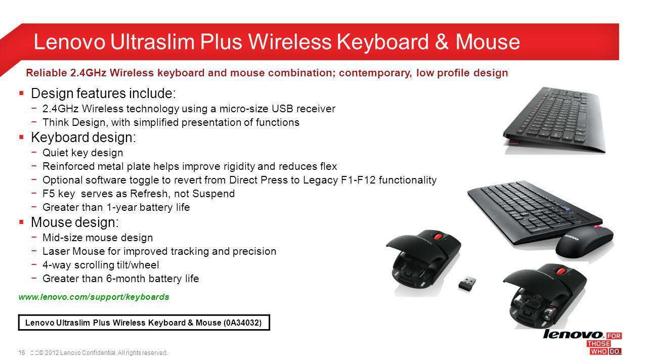 Lenovo Ultraslim Plus Wireless Keyboard & Mouse