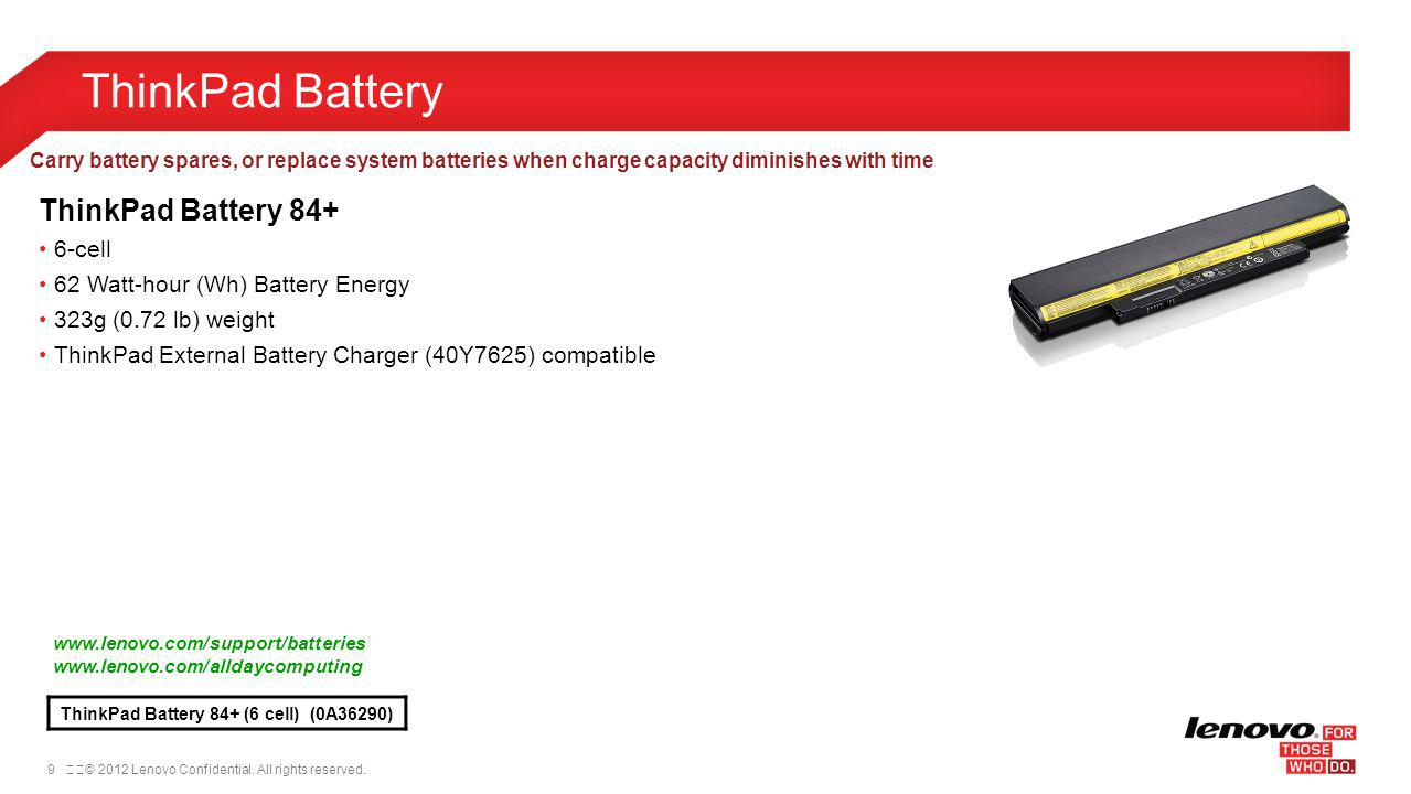 ThinkPad Battery ThinkPad Battery 84+ 6-cell