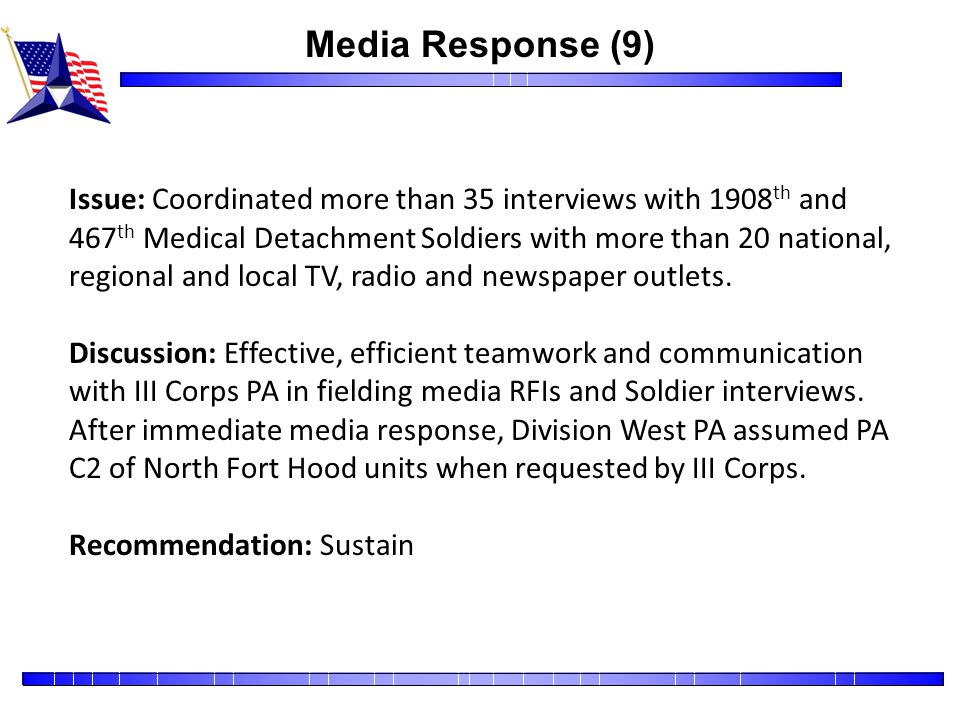 Media Response (9)