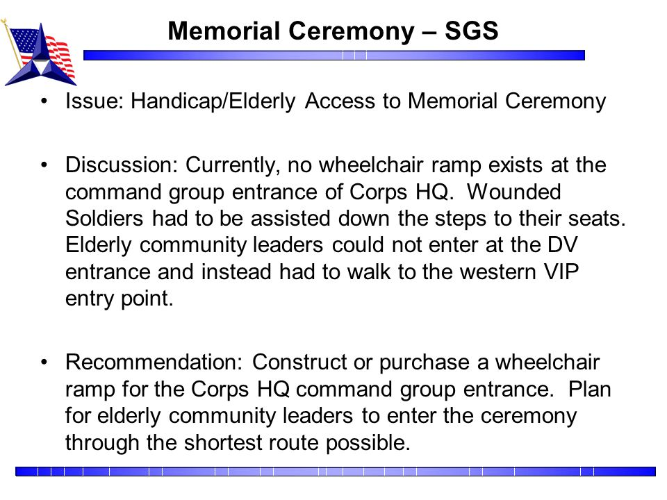 Memorial Ceremony – SGS