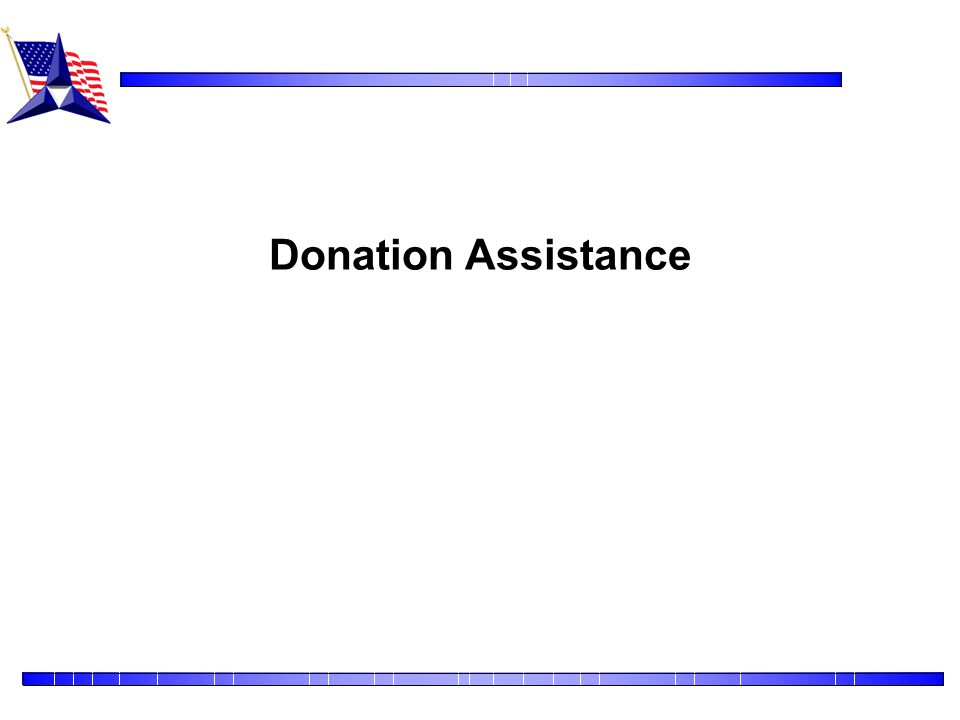 Donation Assistance