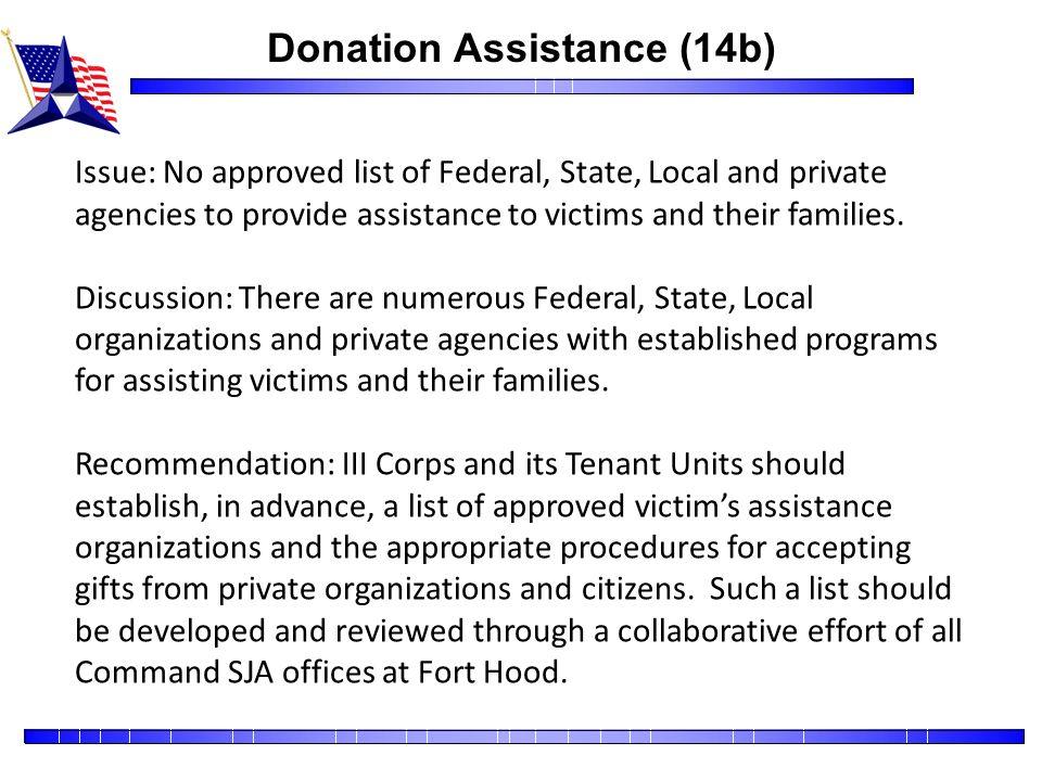 Donation Assistance (14b)