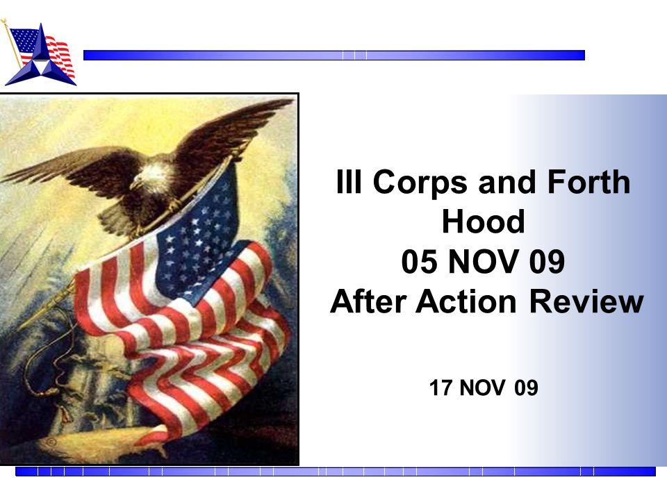 III Corps and Forth Hood