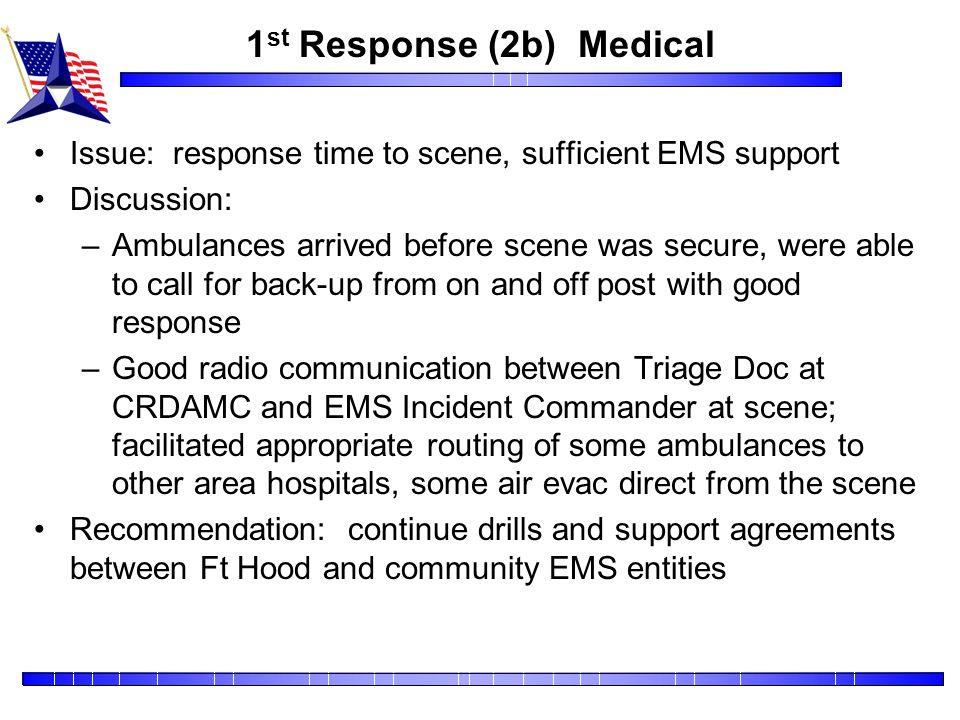 1st Response (2b) Medical