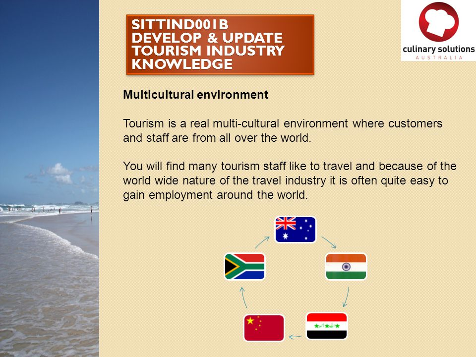 SITTIND001B DEVELOP & UPDATE TOURISM INDUSTRY KNOWLEDGE