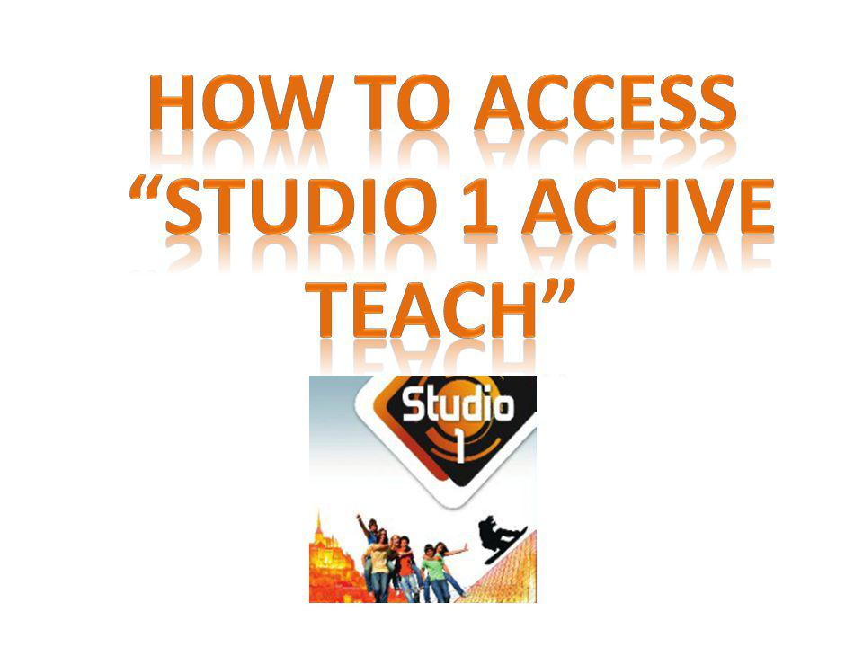 How to access studio 1 active Teach