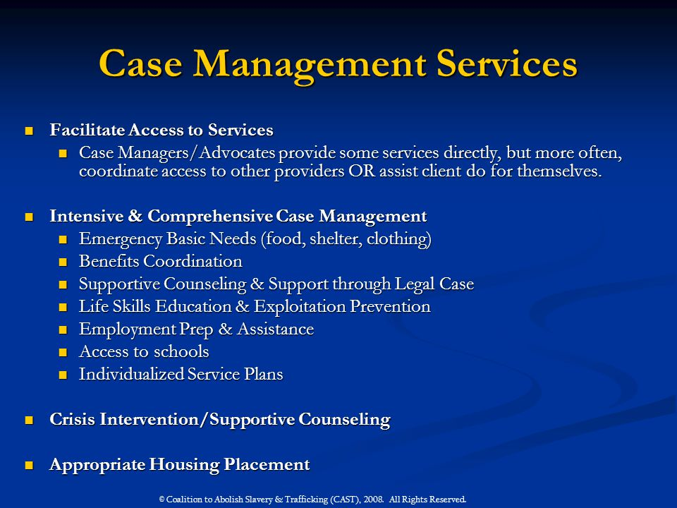Case Management Services