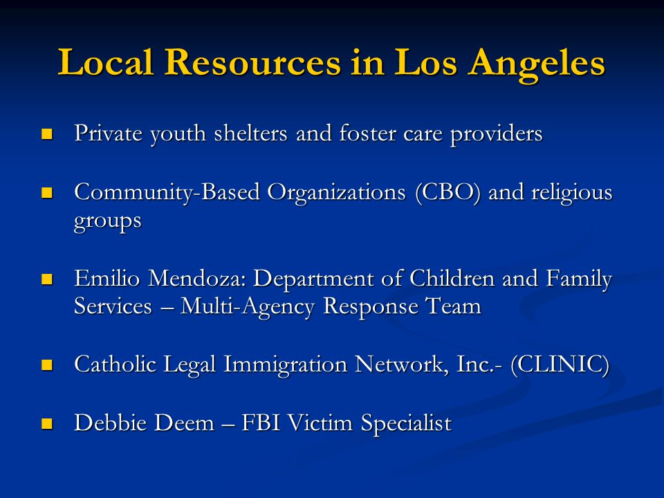 Local Resources in Los Angeles
