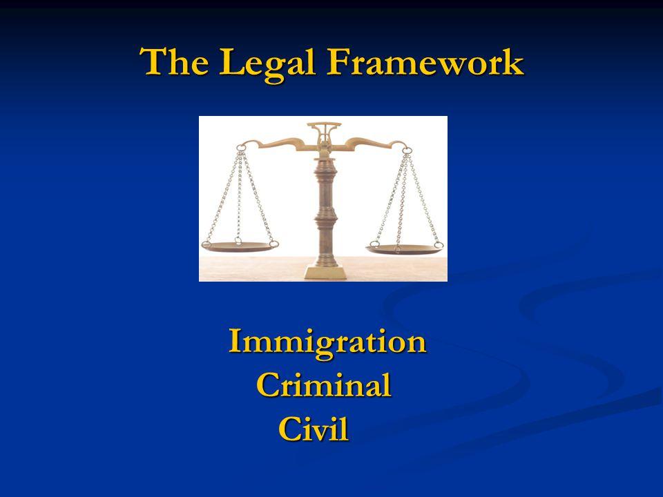 The Legal Framework Immigration Criminal Civil