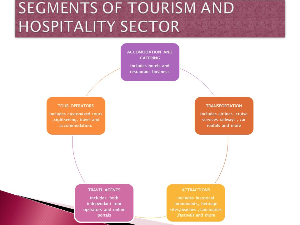 SEGMENTS OF TOURISM AND HOSPITALITY SECTOR