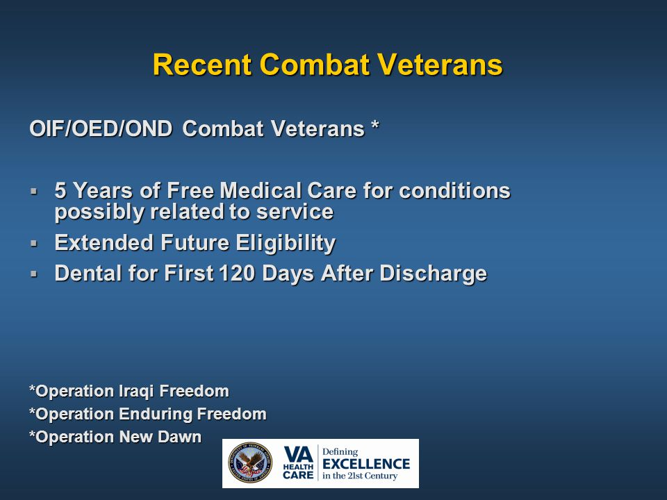 Recent Combat Veterans