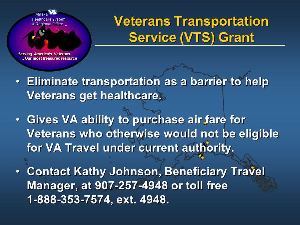 Veterans Transportation Service (VTS) Grant