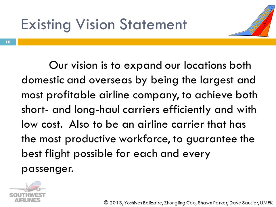 southwest airlines mission vision The mission of southwest airlines is dedication to the highest quality of customer service delivered with a sense of warmth, friendliness, individual pride, and company spirit investor alerts southwest airlines offers automated options to receive investor alerts.