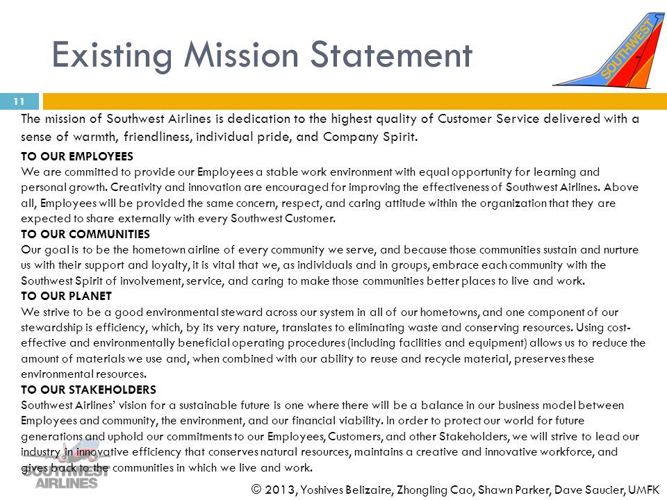 Existing Mission Statement