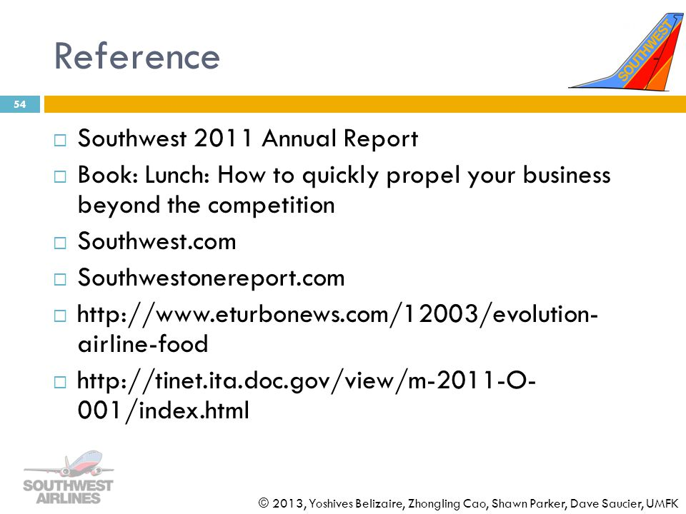 Reference Southwest 2011 Annual Report