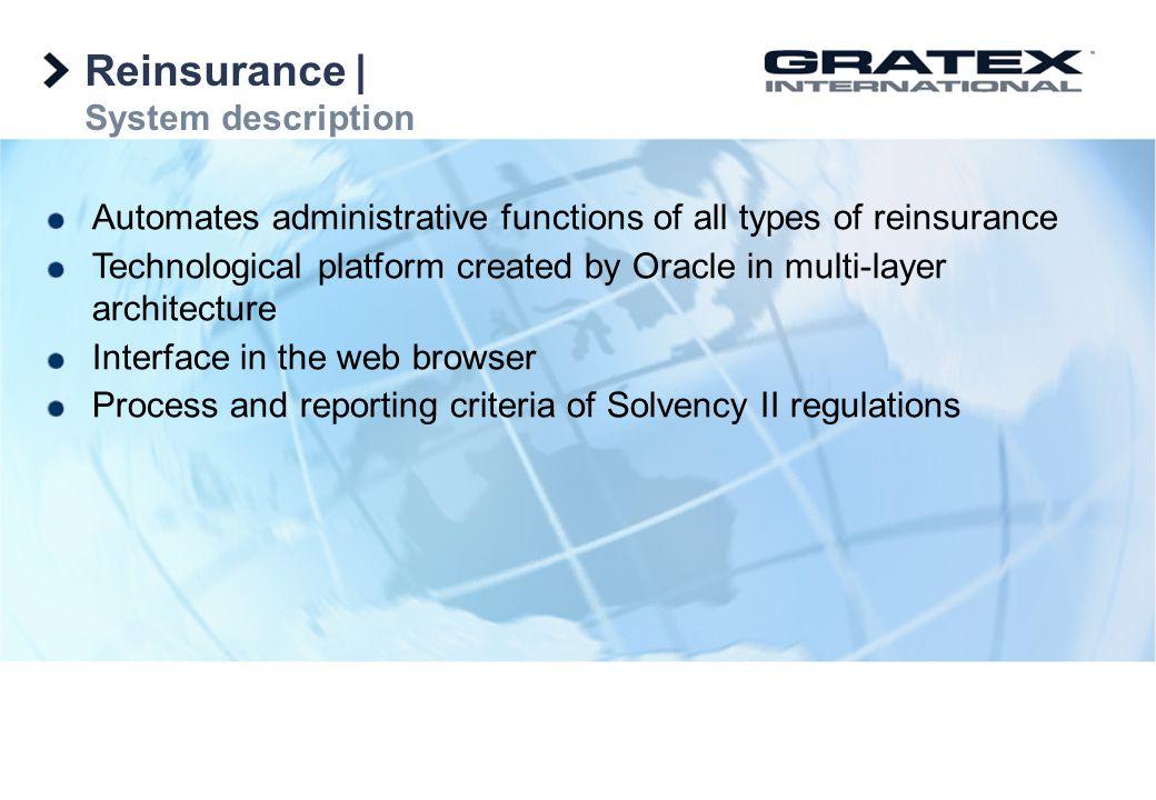 Reinsurance   System description