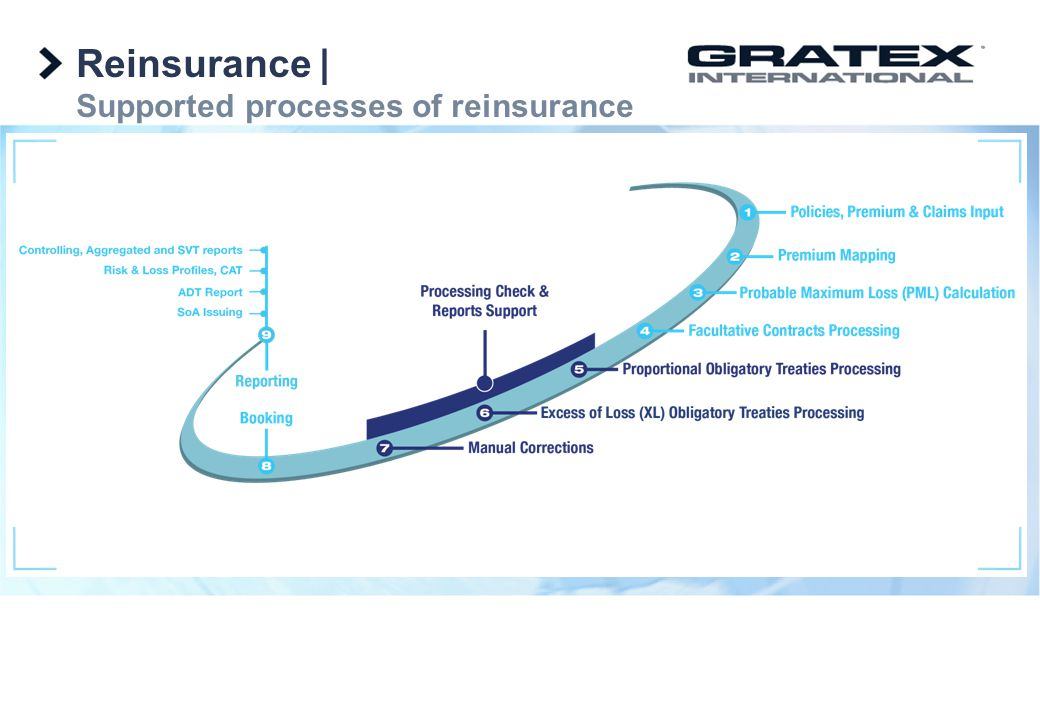 Reinsurance | Supported processes of reinsurance