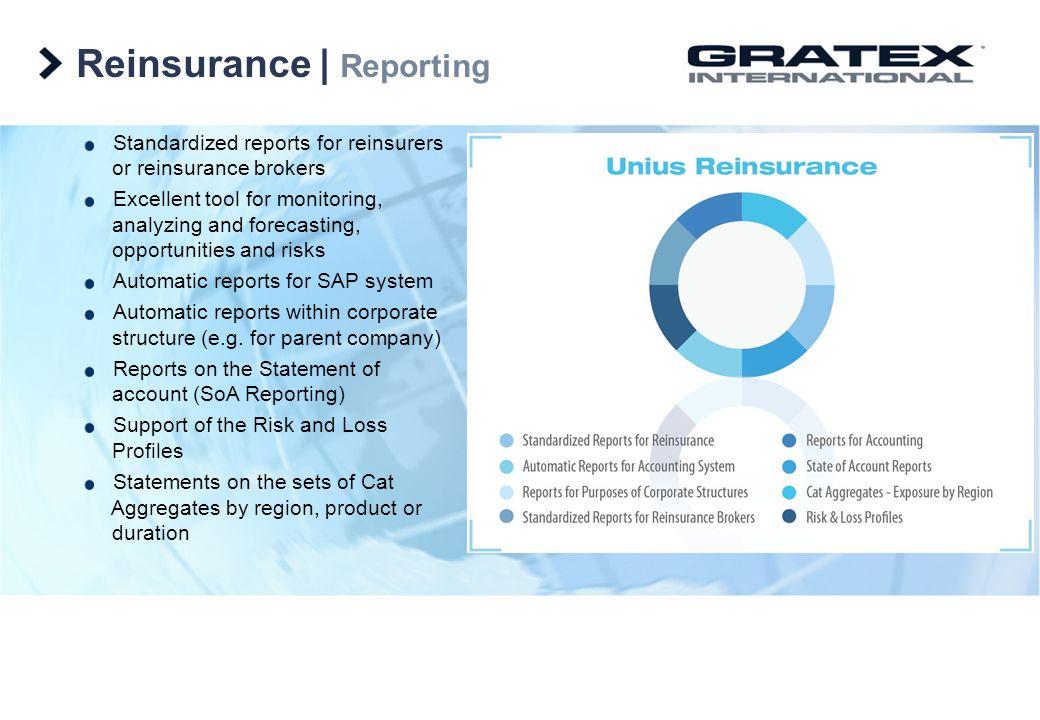 Reinsurance | Reporting