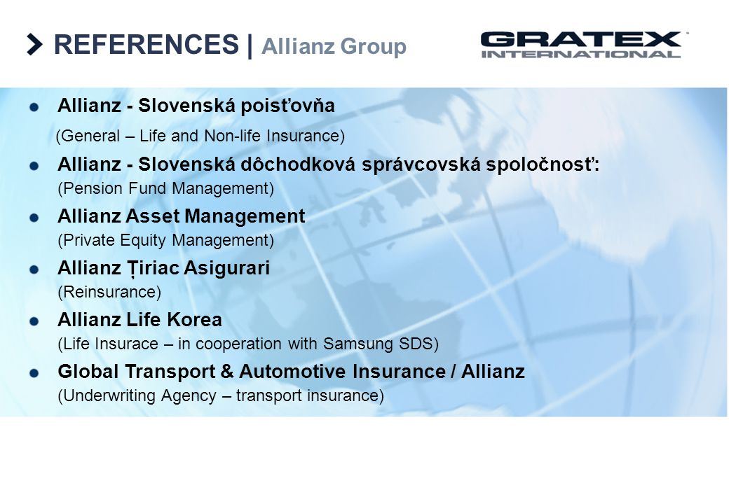 REFERENCES | Allianz Group