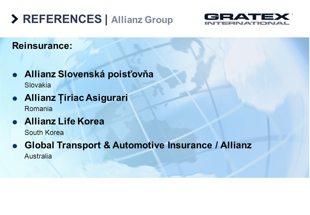 REFERENCES   Allianz Group