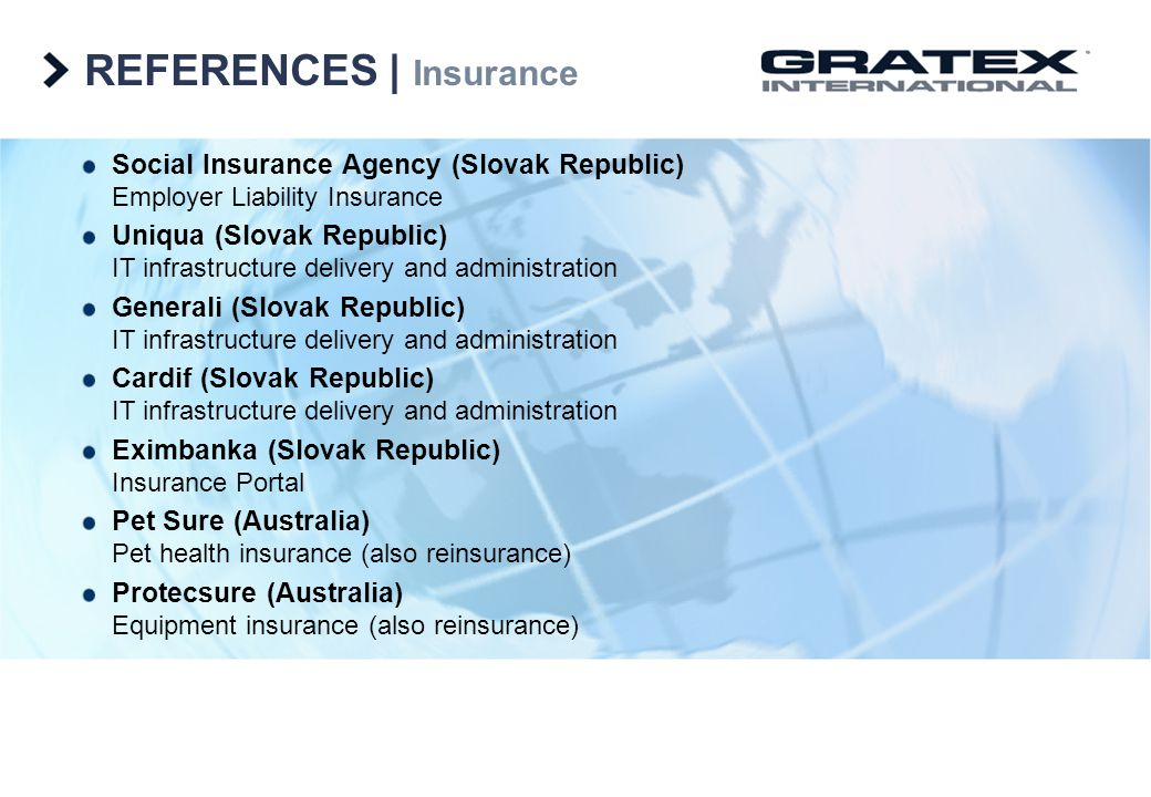 REFERENCES   Insurance